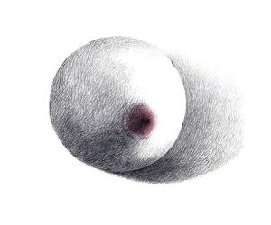 Saint sein - Graphite et couleur sur papier - 15X21 cm - 2019